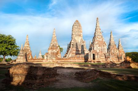 Wat Chaiwatthanaram, Ayutthaya, Thailand 스톡 사진