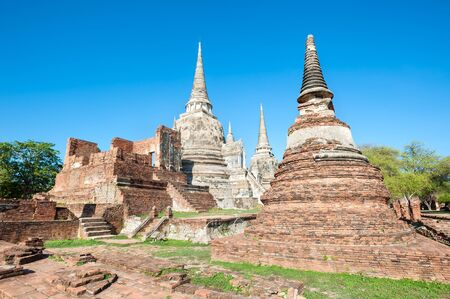 si: Wat Phra Si Sanphet Temple, Ayutthaya, Thailand Stock Photo