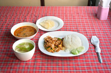 onboard: Set meal onboard the Chiang Mai to Bangkok overnight train, Thailand