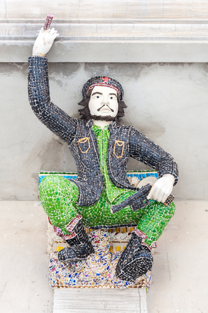 Che Guevara sculpture at Wat Pariwat, Bangkok