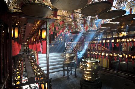 人 Mo の寺院内上環ワン、香港島