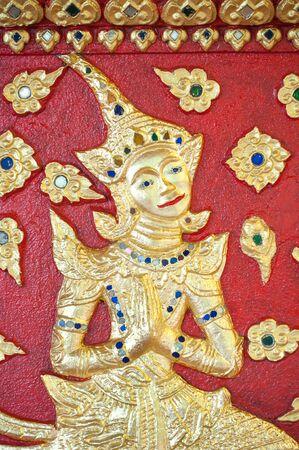 Detail of the main altar at Wat Suan Dok, Chiang Mai, Thailand