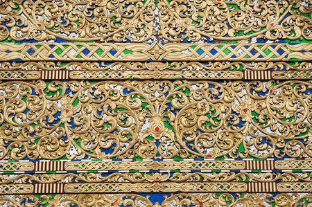 Exterior detail of main prayer hall at Wat Chedi Luang, Chiang Mai, Thailand