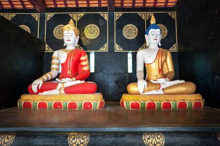 Buddha statues at Wat Chedi Luang, Chinag Mai, Thailand