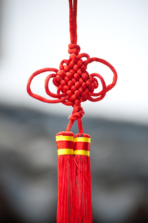 knotting: Red Chinese knotting New Year decoration