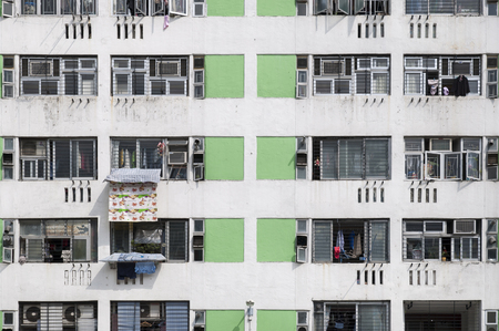 High density public housing on the Lek Yuen Estate, Sha Tin, Hong Kong Reklamní fotografie