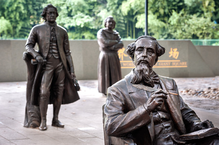 Statue of Charles Dickens at the World Literary Giant Square, Lu Xun Park, Shanghai