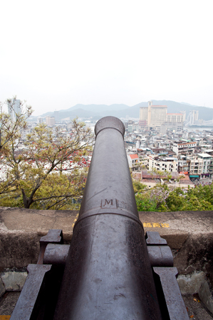 Cannon at the Fortaleza do Monte, Macau, China