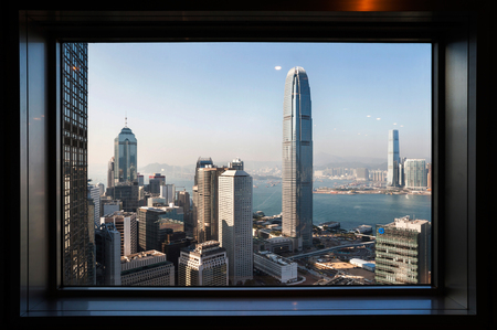 View of IFC Two from the Bank of China Tower observation deck
