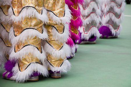 Lion Dance Costume, Hong Kong Reklamní fotografie