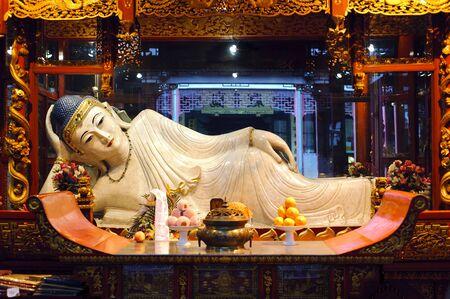 Reclining Buddha at the Jade Buddha Temple, Shanghai, China