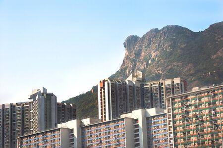 Lion Rock profile, seen from Wong Tai Sin, Hong Kong