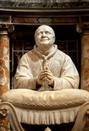 Marble statue of Pius IX (1792–1878), by Ignazio Jacometti, in the Basilica di Santa Maria Maggiore, Rome, Italy