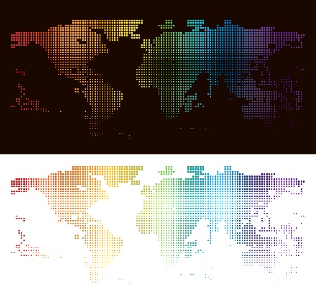 halftone world map photo