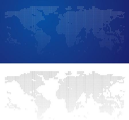 halftone world map photo