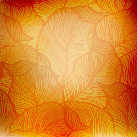 paper art: Vector Abstract orange vintage background