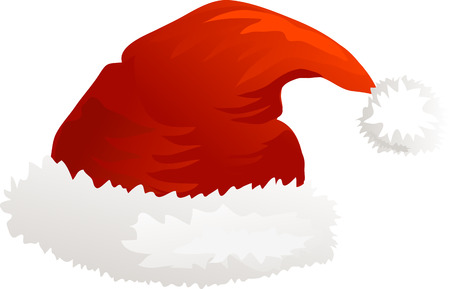 red hat: Vector Christmas icon Santa hat