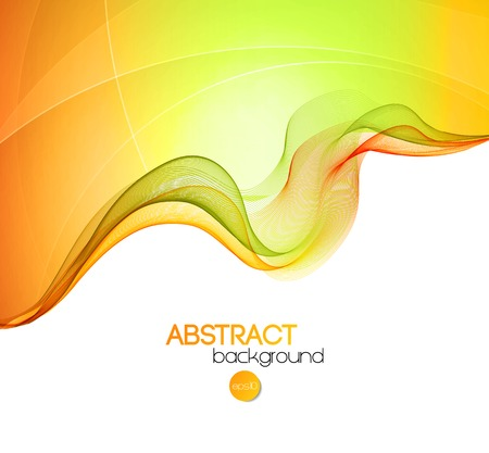 Vector illustration Abstract colorful transparent wave. EPS 10 Çizim