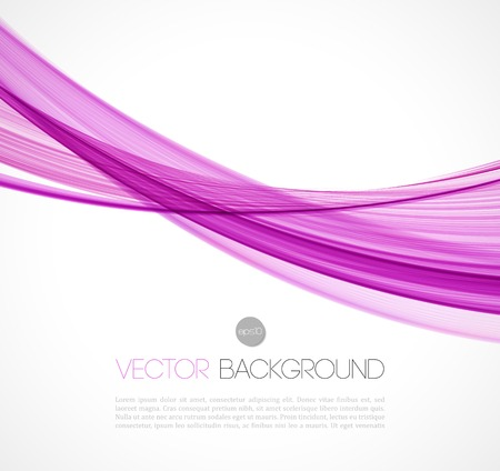 Vector illustration Abstract colorful transparent wave. EPS 10 Illustration