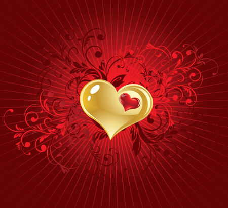 bordo: The vector illustration contains the image of valentines background Illustration