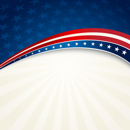 patriotic usa: Vector illustration Independence Day patriotic background
