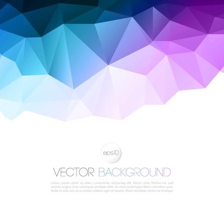 Vector Farbe abstrakten geometrischen Banner mit Dreieck.