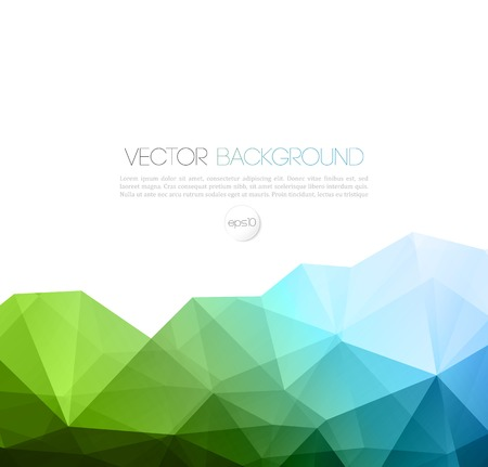 website background: Vector color abstract geometric banner with triangle.