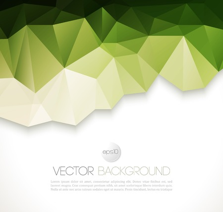 Vector color abstract geometric banner with triangle. Vector
