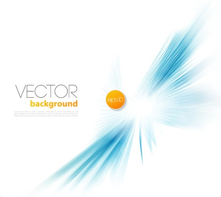 air flow: Vector Abstract template  background brochure design blue line Illustration