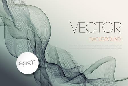 ベクトル抽象的な波テンプレート背景パンフレット デザイン