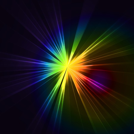 star light: Abstract flash star light. Colorful exploding . Vector illustration.