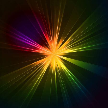 star light: Abstract flash star light. Colorful exploding . Vector illustration.