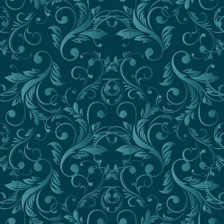 antiquated: Vector Abstract vintage seamless damask pattern