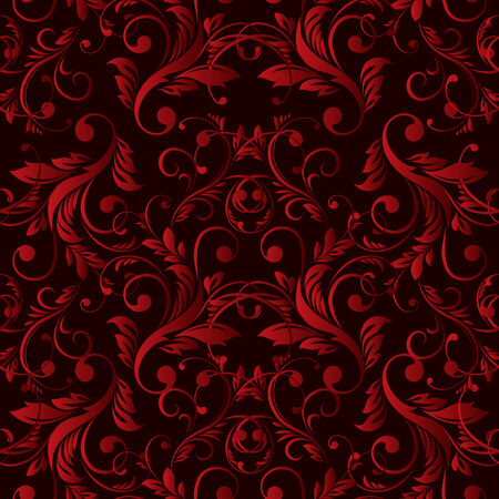 Vector Abstract vintage seamless damask pattern