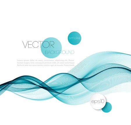 Vector Abstract smoky waves  background. Template brochure design Illustration