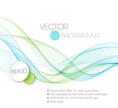 Vector Abstract smoky waves  background. Template brochure design Ilustração