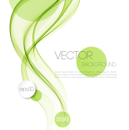 Vector Abstract smoky waves  background. Template brochure design Ilustrace