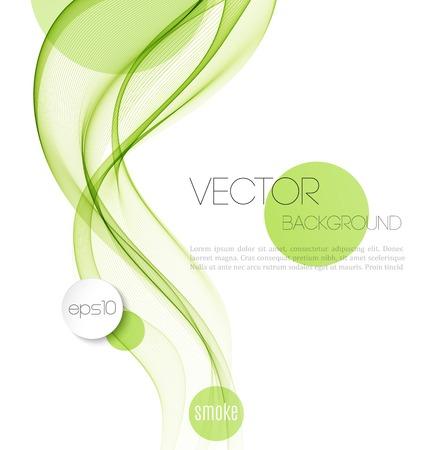 Vector Abstracte rokerige golven achtergrond. Sjabloon brochure ontwerp Stock Illustratie