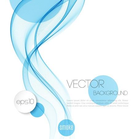 smooth curve design: Vector Resumen olas de humo de fondo. Dise�o de folletos Plantilla