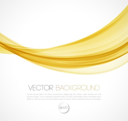 illustration line art: Vector Abstract smoky waves  background. Template brochure design Illustration
