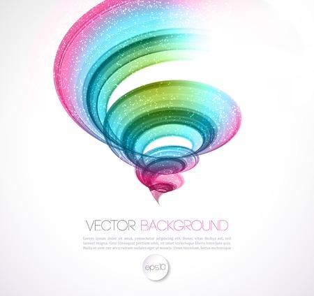typhoon: Vector Abstract twist waves  background. Template brochure design
