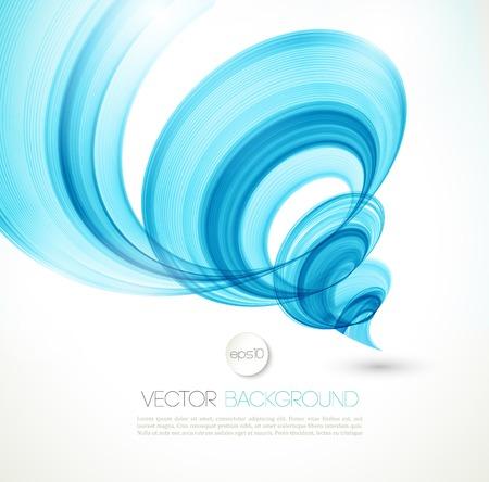 viento: Resumen de vectores de ondas de torsi�n fondo. Dise�o de folletos Plantilla Vectores