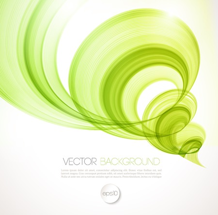 green swirl: Vector Abstract twist waves  background. Template brochure design
