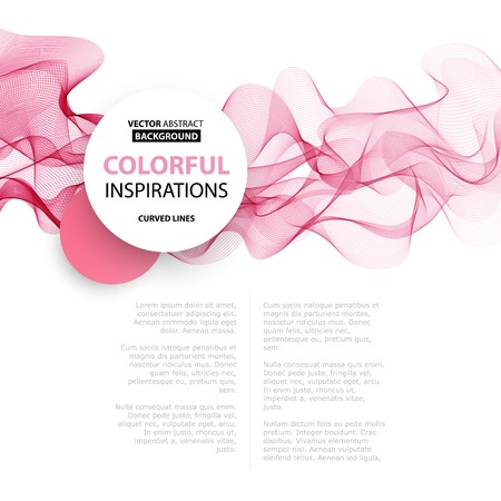 design layout: Vector Abstract smoky waves  background. Template brochure design Illustration