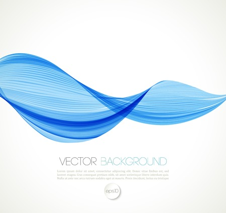 enfumaçado: Vector Abstract smoky waves  background. Template brochure design Ilustração