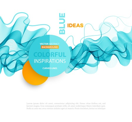 waves background: Vector Abstract smoky waves  background. Template brochure design Illustration