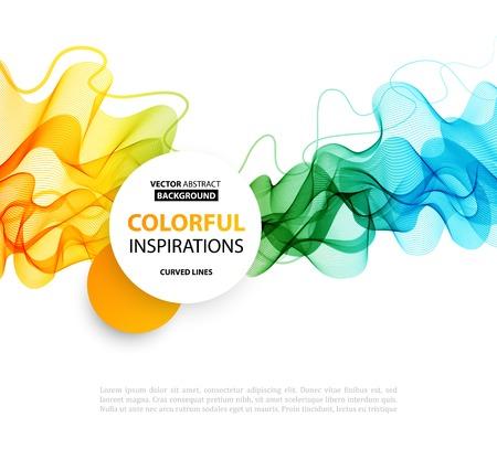 backdrop design: Vector Abstract smoky waves  background. Template brochure design Illustration