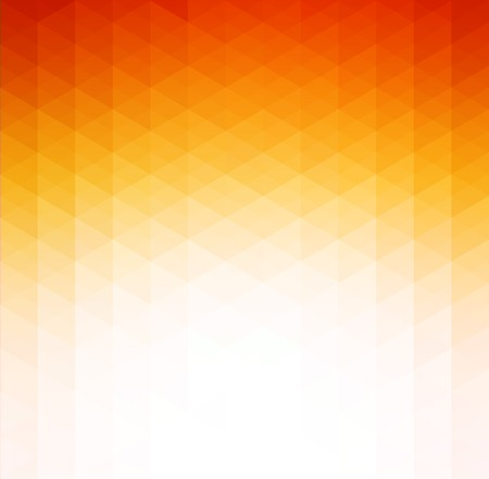 geometric background: Naranja de fondo la tecnolog�a geom�trico abstracto del vector con tri�ngulo Vectores