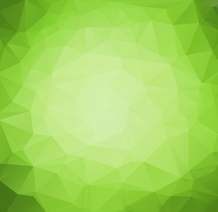 arte abstracto: Vector Resumen de fondo retro tri�ngulo de color verde