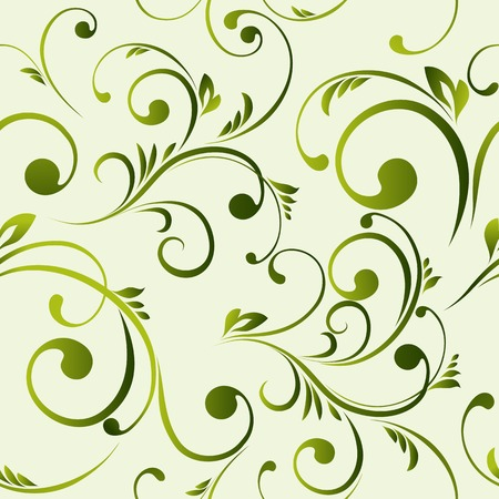The vector illustration contains the image of floral seamless Vector